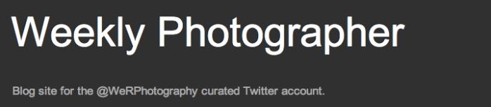Weekly Photographer