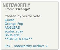 Photofriday Noteworthy Orange