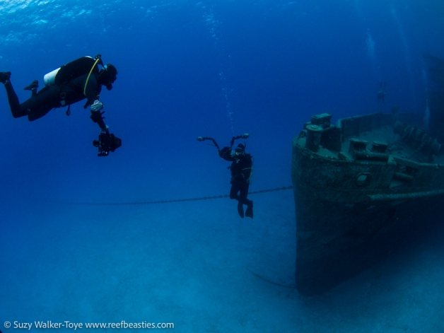 No matter where you go in the world, someone is taking a selfie! On the Kittiwake with Henley Spiers and Brian Stone, Cayman 2016